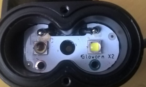 gloworm x2 lights with dead LED